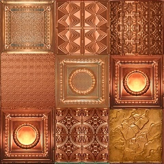 FAUX TIN tiles have many applications including ceilings, backsplash & wall panels explore this and other sitesged Solid and New Solid Copper Category Image