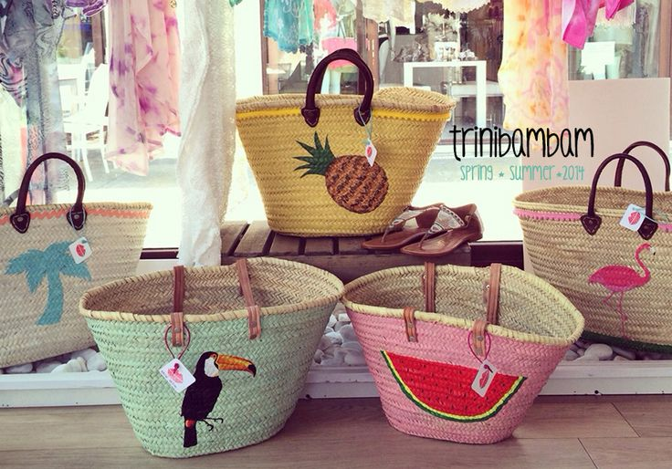 Cool, exclusive han painted baskets.