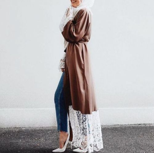 Long open cardigans hijab style – Just Trendy Girls
