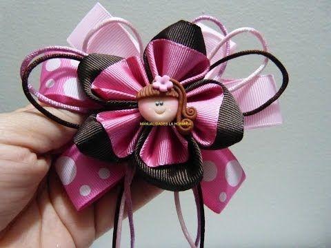 flores en cinta faciles para decorar moños párrafo el cabello paso a paso. Manualidadeslahormiga - YouRepeat