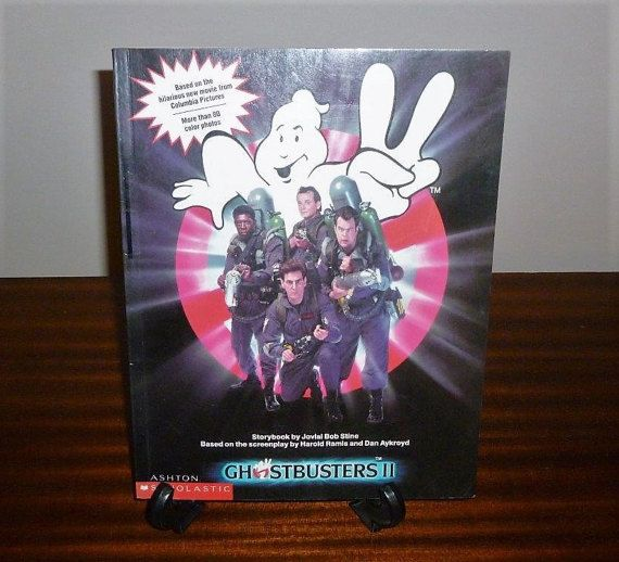 """Vintage 1989 Book: """"Ghostbusters II"""" - Based on the Movie with Colour Photographs from the Movie / By Ashton Scholastic & Columbia Pictures by V1NTA6EJO"""