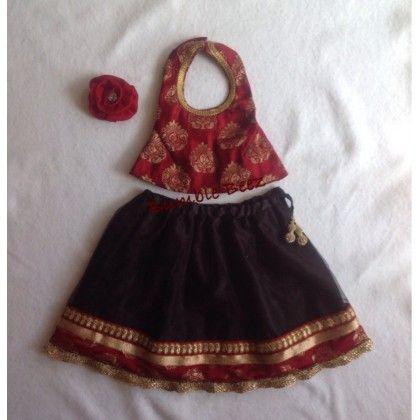 Red And Black Lehenga