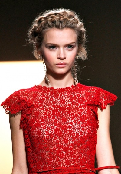 Valentino red lace