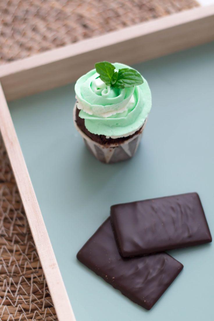 Mini-Cupcake mit Minze