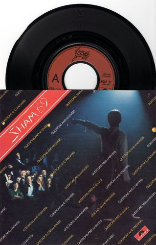 """SHAM 69 Questions And Answers 1979 Uk Issue 3 track 7"""" 45 rpm Vinyl Single record rock pop Punk New Wave 70s 1970s Posp27 Free s&h"""