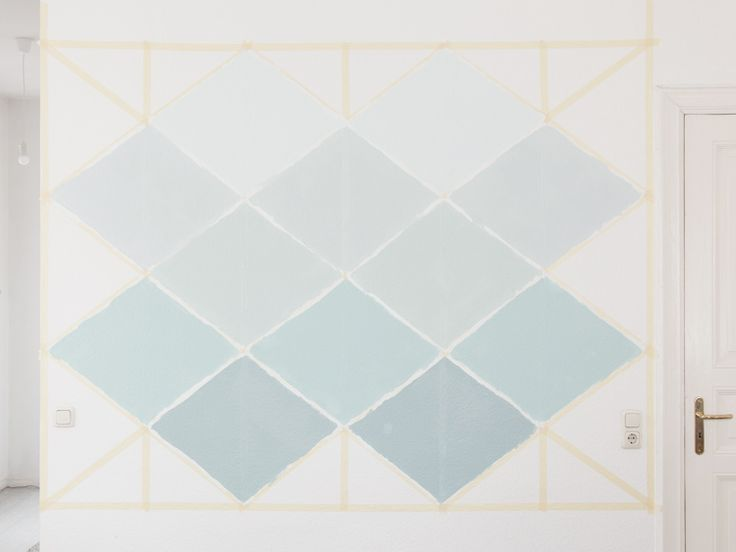 DIY tutorial: How to Paint an Ombre Geometric Wall  via DaWanda.com