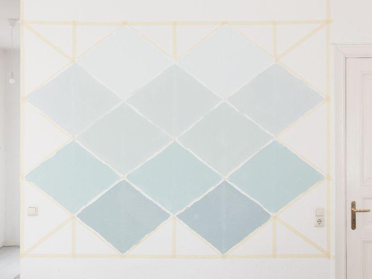 die besten 17 ideen zu geometrische wand auf pinterest geometrische wandmalerei akzentwand. Black Bedroom Furniture Sets. Home Design Ideas