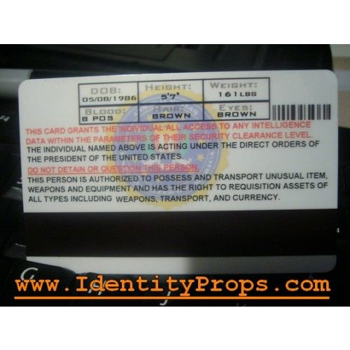 fbi id template fbi identification card from the identity props store