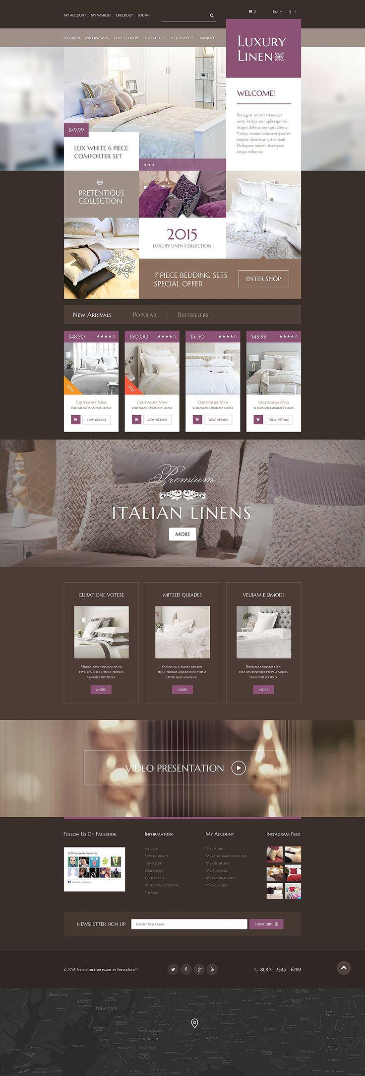 Luxury Linen Store #PrestaShop #Responsive Theme #html5 #css3 #bootstrap ready ...  pic.twitter.com/A7X3HijImQ