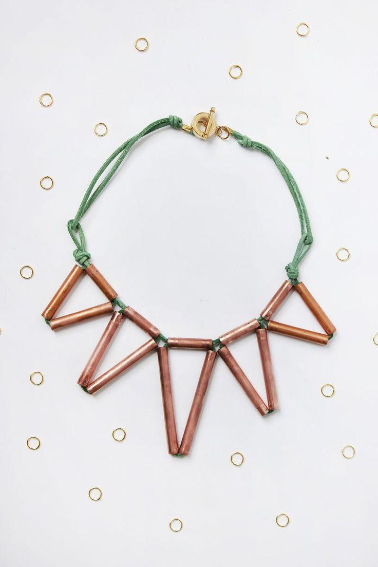 Geometric Copper Necklace DIY