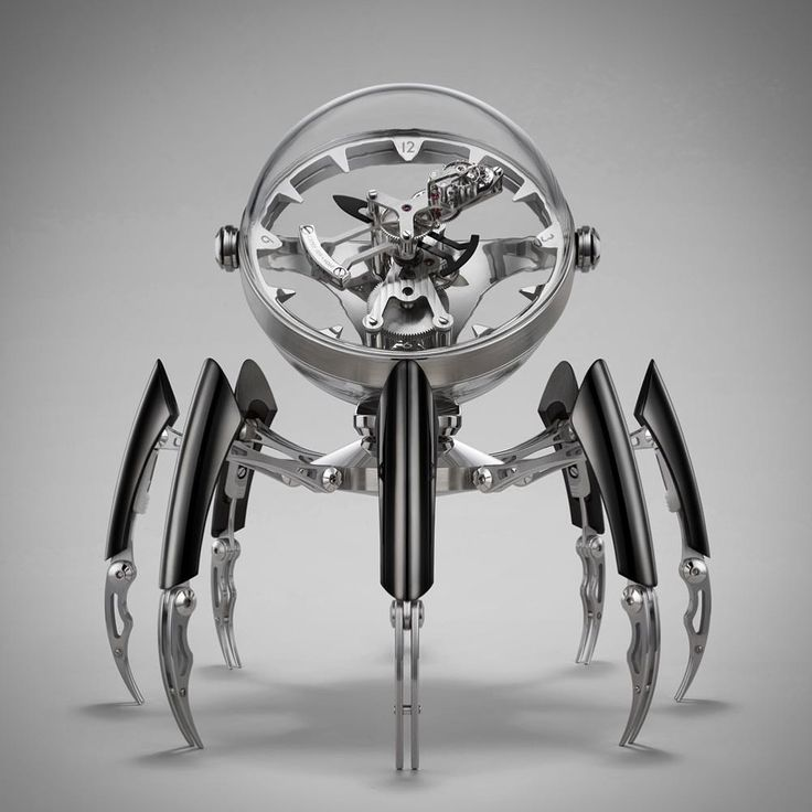 Octopod, A Beautiful Eight-Legged Robotic Clock Inspired by Cephalopods