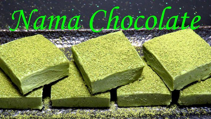 Японский шоколад с зеленым чаем, японский зеленый шоколад, нама шоколад