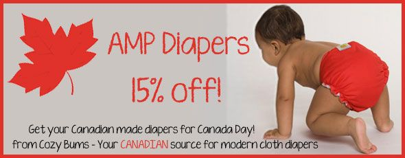 AMP Diaper products on sale, June 1 -7 at Cozy Bums!