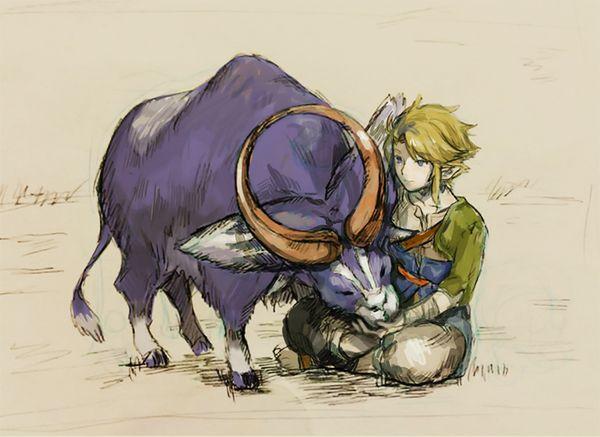 ordonヤギとのリンク (Link with Ordon goat) | Zelda twilight ...