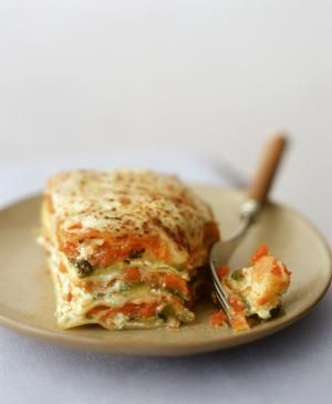 A piece of vegetable lasagne with fork - Quentin Bacon / Getty Images