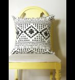 loving this tribal print pillow, from Haus Interior