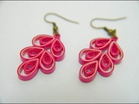 Quilling Earrings Designs Using Comb : PAPER EARRINGS - How to make Beautiful Quilling Earrings Using Paper and Comb - Making Tutorial ...