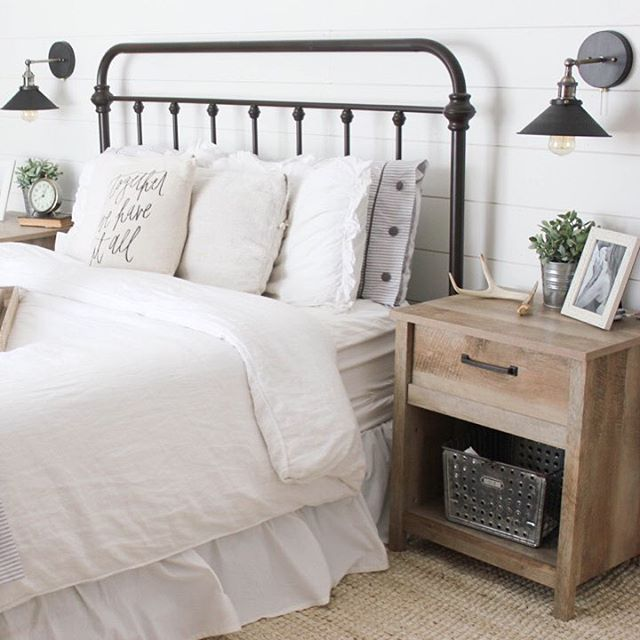 I've had many of you ask about the metal bed in our master bedroom, so I linked it from a few different sites within this post! It's sturdy (I feel weird saying that ) and a great bed frame. The color is oil rubbed bronze. We purchased a low profile box spring to use under our mattress so more of the headboard is visible. I linked the box spring, lighting, RUG!, and side tables for you too!  http://liketk.it/2oSYA @liketoknow.it #liketkit #ltkhome