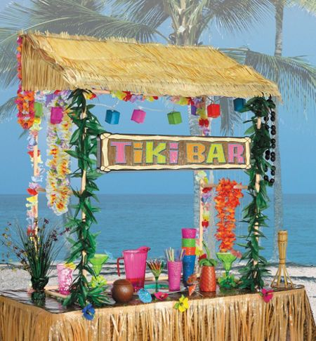 Hawaiian Luau Theme - Someone hulu their way over to the tiki bar and grab me a coconut cocktail!
