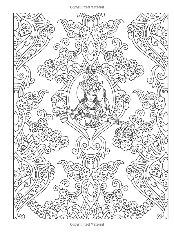 Mehndi Patterns Colouring : Best images about coloring pages to print india on