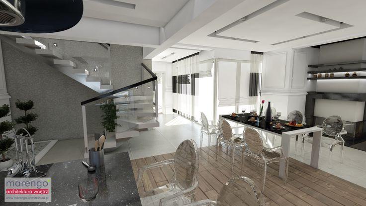 dom w stylu glamour w Myślenicach, więcej na: http://marengo-architektura.pl/portfolio/wnetrze-glamour/