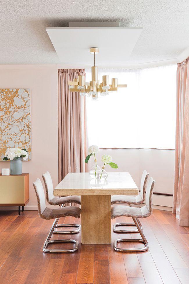 The Big Pink Blush Interior Inspiration Dining RoomsDining