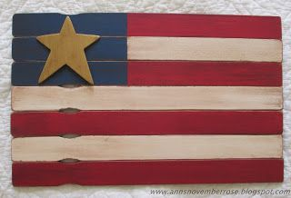 November Rose: Flag - From Paint Stirrers!