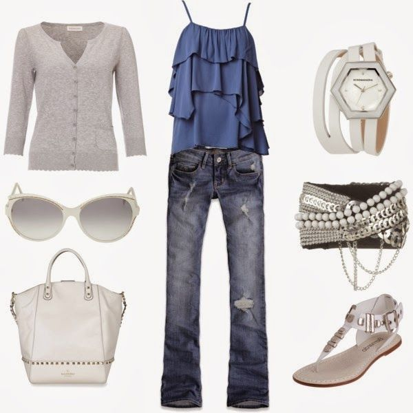 Spring Outfit: Summer Fashion, Idea, Casual Outfit, Style, Blue, Dream Closet, Clothes, Spring Summer, Spring Outfits