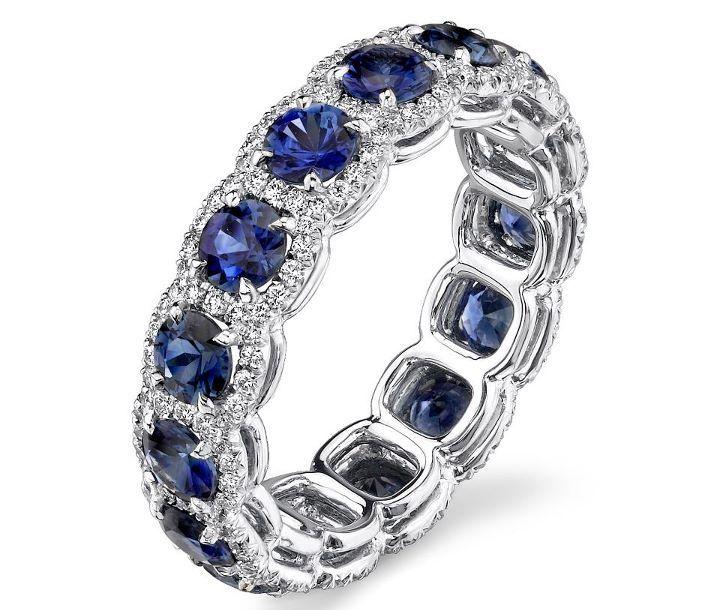 25+ best ideas about Sapphire wedding bands on Pinterest ...