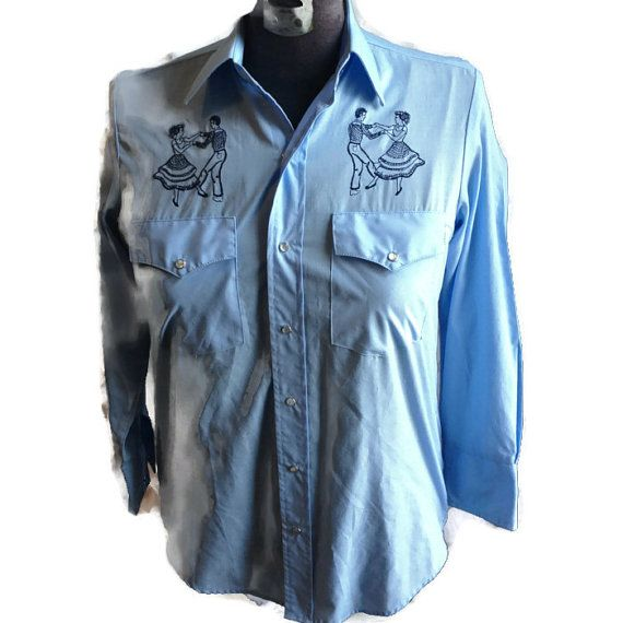 80's Country Western Collared Shirt / Rockabilly by RetroFreshTees, $32.00