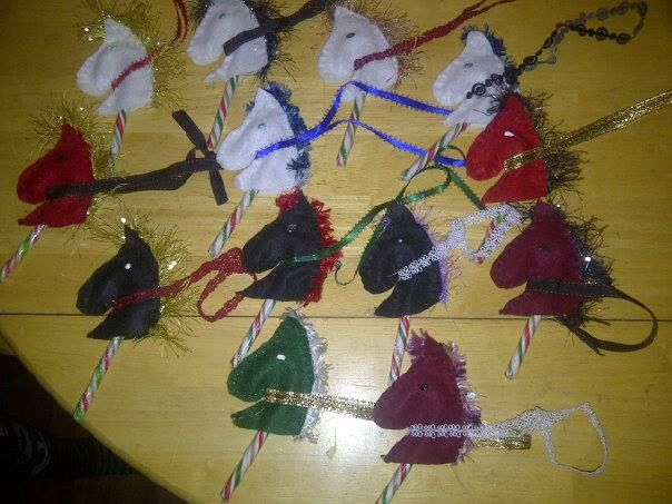 Candy Cane Hobby Horse ornaments