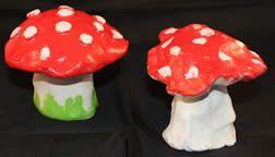 paddenstoel van klei