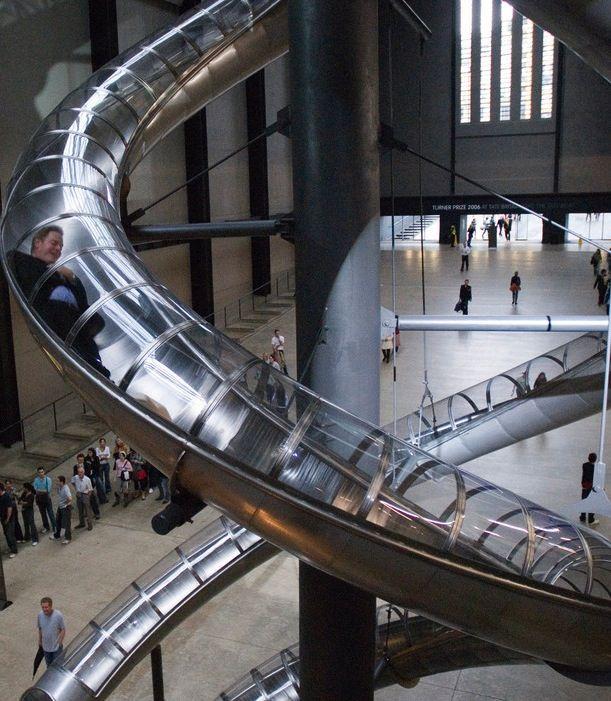Looks like fun! A slide at the Tate Modern.