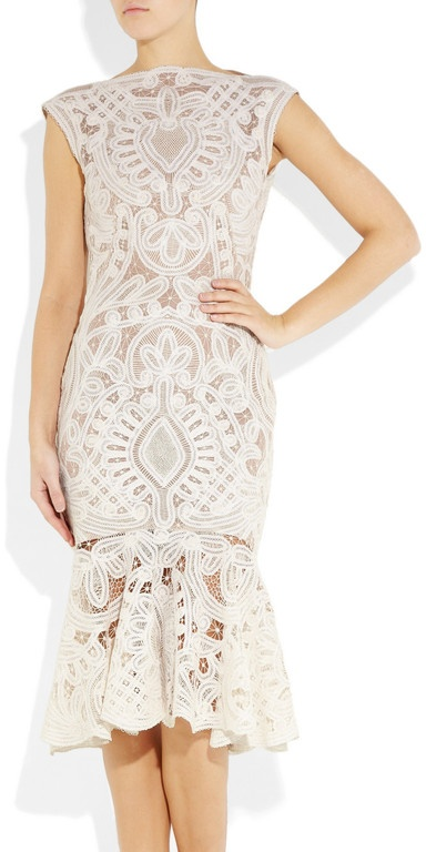 Alexander Mcqueen Crochetembroidered Silkorganza Dress