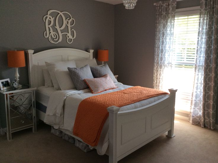 Orange And Gray Bedroom Bedroom Inspiration Pinterest Orange Bedrooms