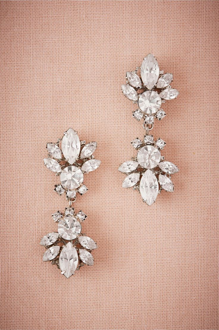 BHLDN Myrtle Drop Earrings in  Bride Bridal Shoes & Accessories Bridal Jewelry Earrings | BHLDN