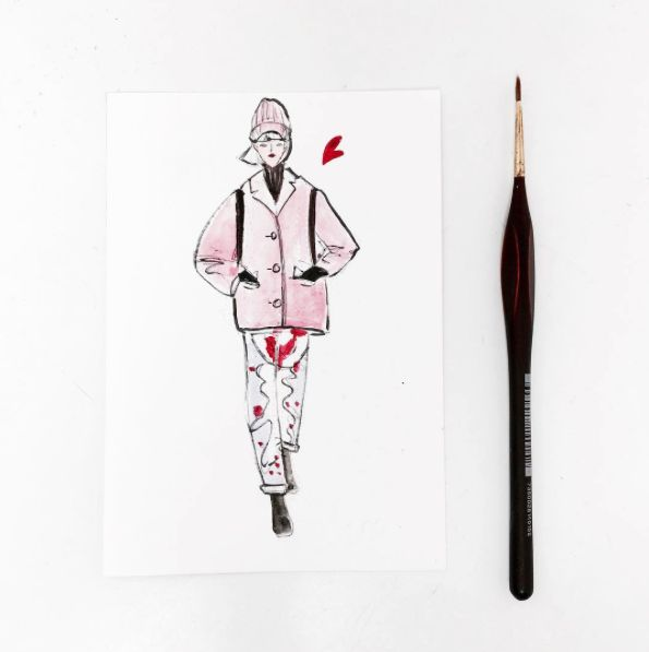 Best Fashionary Watercolor Postcards Images On