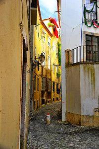 Narrow streets of the Alfama