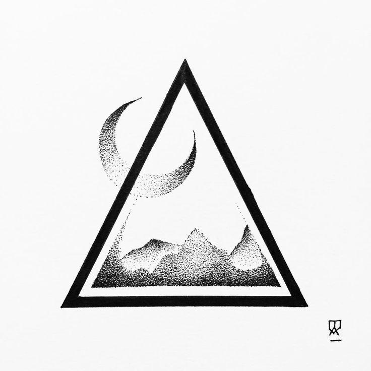 Up for sale. #illustration #illustrator #design #sketch #drawing #draw #ink #tattoo #tattoodesign #linework #dotwork #blackwork #blackworkers #art #artwork #artist #artistic #instaart #moon #mountain #mountains #landscape #minimal #blackandwhite #abstract #triangle #explore #wanderlust #evasvartur #instafollow