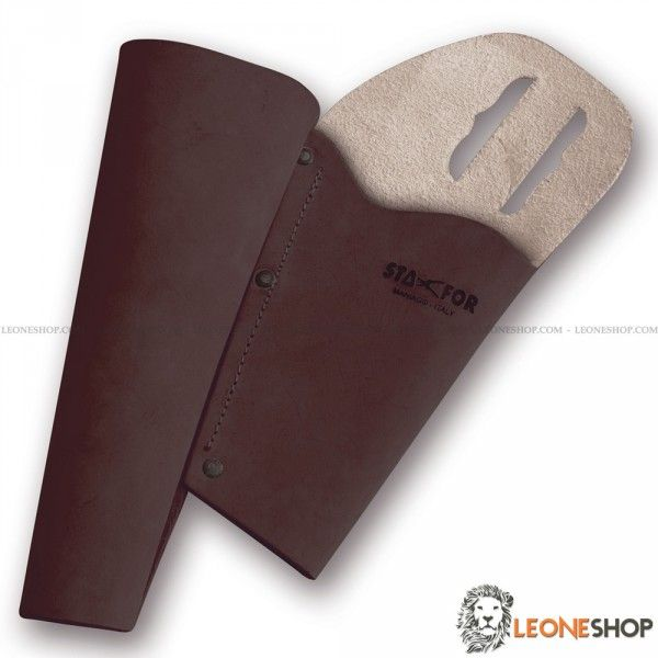 STAFOR Leather Sheath for pruning shears and folding saw STF-173, sharpening stones, sheaths for shears and saws of high quality, made with Real Leather sewn by hand by skilled artisans and equipped with belt loop that allows maximum practicality while you work - STAFOR sheath for shears really exceptional with quality materials and an excellent Italian design, superior quality in all the components and also in the finishes.