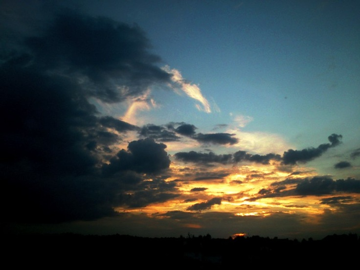 sun set Poland