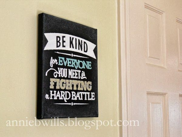 """""""Chalkboard"""" Quote on Canvas by Annie Williams #silhouettedesignteam #Silhouette"""