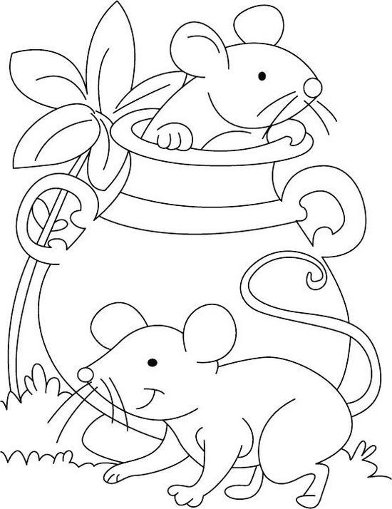 best baby mouse coloring sheet | Draws | Bolos