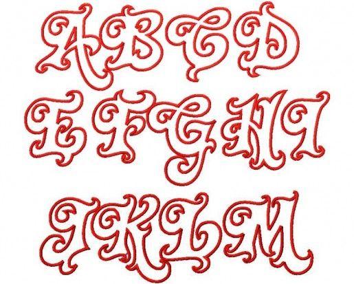 Bubble letter cut outs big letters of the alphabet - Letter a graffiti style ...