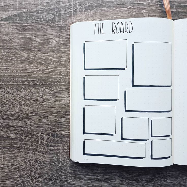 A new idea for your Bullet Journal! Have something you want to write down but don't have a set date for it yet? Write it on the Board ! ;)