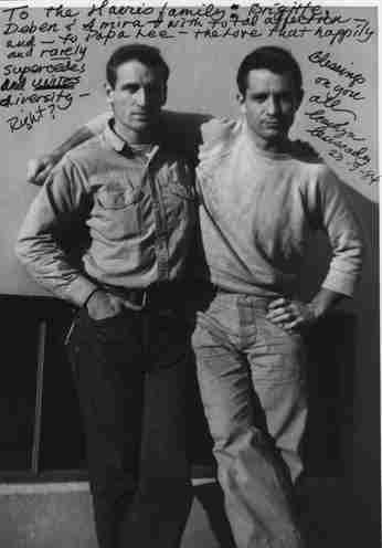 Jack Kerouac & Neal Cassidy, San Francisco,1952. photo by Carolyn Cassidy