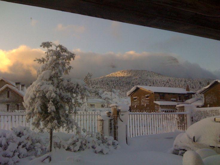 Amanecer nevado en Barosse