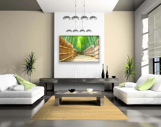 Zieleń w #pokoju, nada Twojemu #wnętrzu niepowtarzalnego charakteru i wprowadzi do niego nieco świeżości. #livingroom #fotoobraz #follow #salon #obrazdobiura #obrazdosypialni #obrazdosalonu #drzewa #bambus #nowysacz #design #wystrój #dekoracjeścian #dekoracje #dom