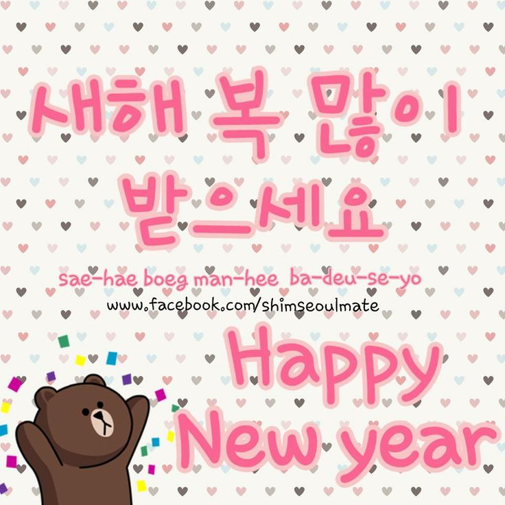 "How To Say ""Happy New Year"" In Korean.^^ 새해 복 많이 받으세요"