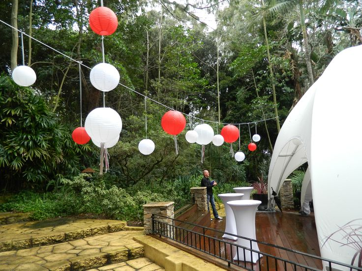 Eastern Ball Lanterns with our marquees.   www.creativemarquees.com.au